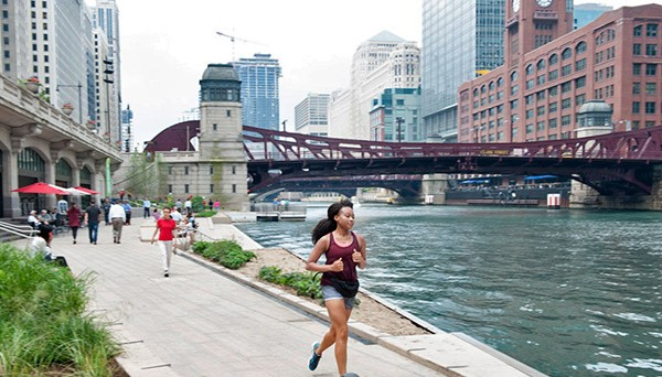 The Riverwalk's new extension stretches from State to LaSalle.