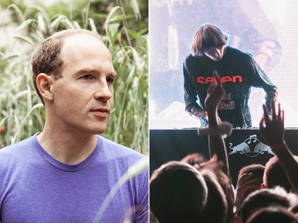 Left: Caribou, aka Canadian composer and producer Dan Snaith. Right: A.G. Cook, who runs UK-based netlabel PC Music.