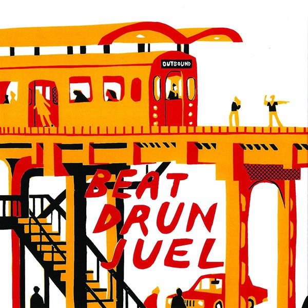 The cover of the new Beat Drun Juel seven-inch, with artwork by former Mannequin Men guitarist Ethan D'Ercole