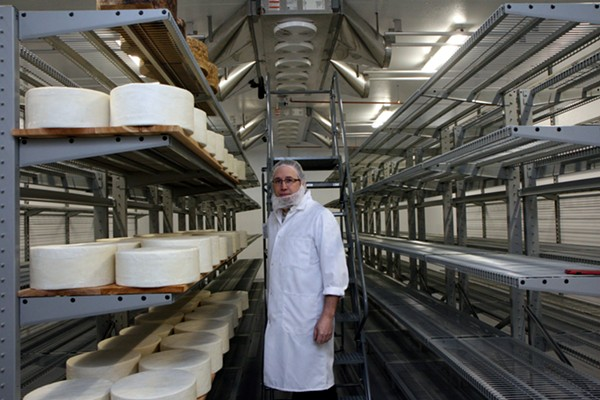 Standard Market maitre fromager affineur David Rogers in the company's newest and largest (and mostly yet-to-be-filled) cheese cave