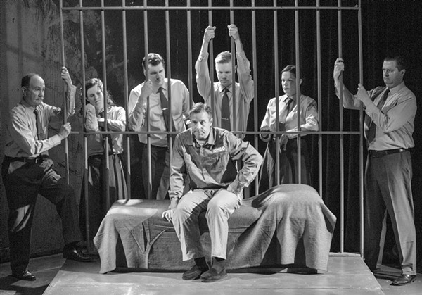George Seegebrecht and the cast of Hauptmann