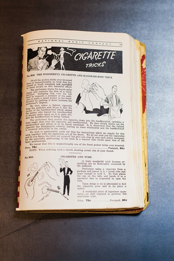 """Cigarette Tricks"" from a 1940 National Magic Company catalog"