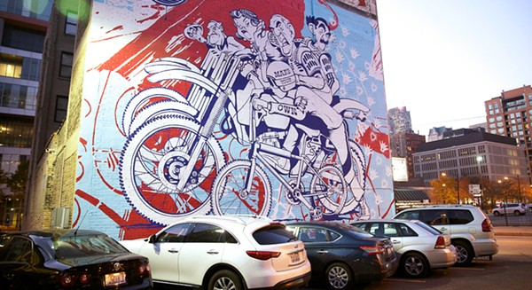 Mural created by Brooklyn artistic duo known as ASVP.