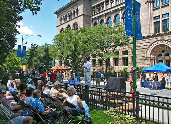 Since 1986 the Newberry has organized the Bughouse Square Debates to celebrate Washington Square Park's history as a free-speech refuge.