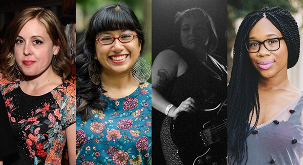 Our Music My Body panelists Corin Tucker, Monica Trinidad, Jes Skolnik, and Britt Julious