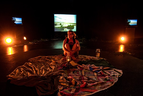 A production still from performance artist Bea Cordelia's The Cosmic Body