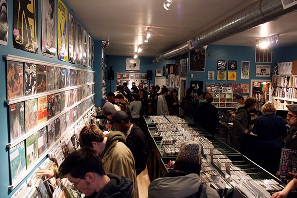Permanent Records during the CHIRP Record Crawl in November 2011, when the shop had just turned five