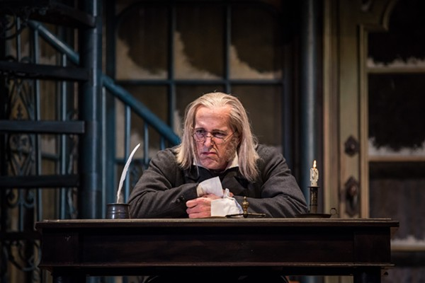 Larry Yando returns as Scrooge in the Goodman's A Christmas Carol.