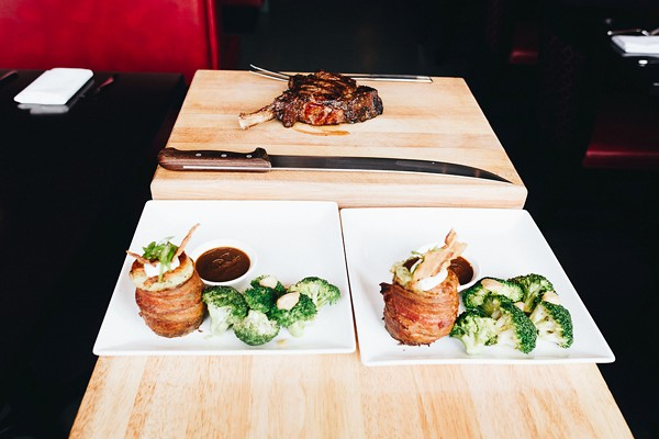 The rib eye at Knife comes in 28-ounce and 12-ounce portions.