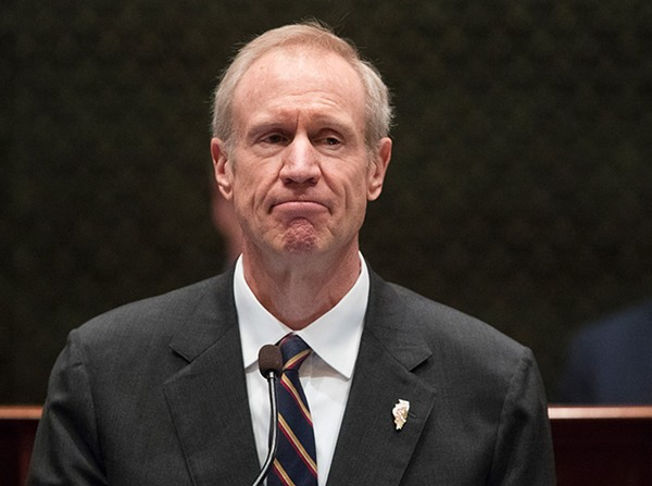Governor Bruce Rauner delivering his State of the State address on Wednesday, January 25