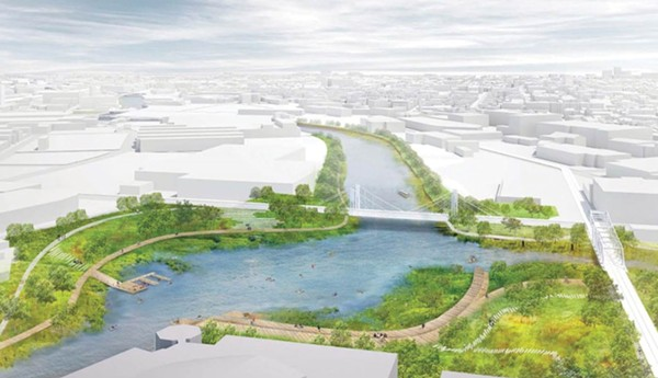 Rendering of public spaces proposed as part of the North Branch redevelopment plan