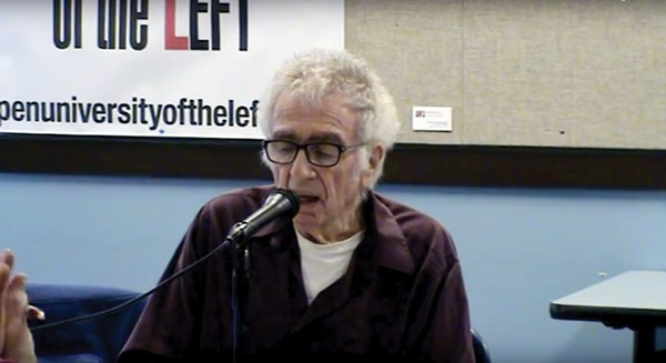 "U. of C. professor emeritus and longtime activist Mel Rothenberg presents the lecture ""Contemporary Capitalism and Why We Need Marxism"" at an October 2016 session of Open University of the Left."