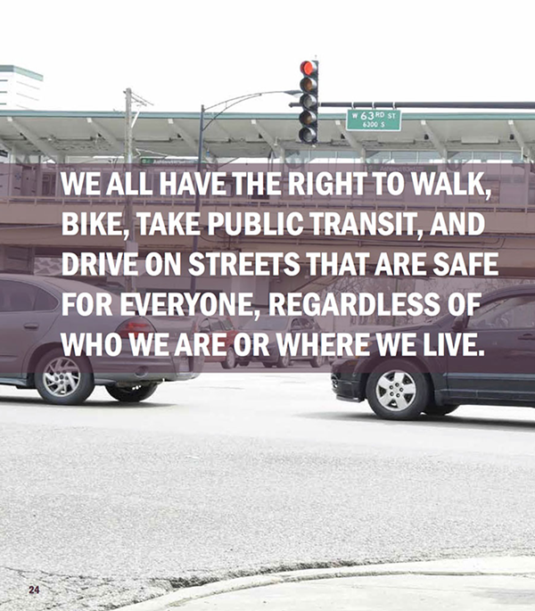 A meme-worthy image from Chicago's Vision Zero Action Plan