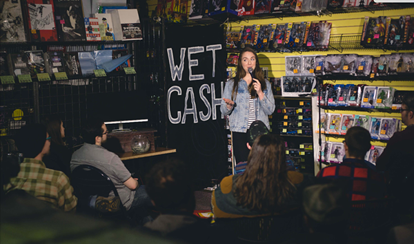 Julia Claire performing at Wet Cash