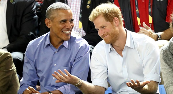 Prince Harry (right) will appear at an international civic leadership summit next week, hosted by the Obama Foundation.