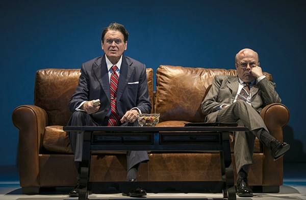 Rob Riley (Ronald Reagan) and William Dick (Mikhail Gorbachev)