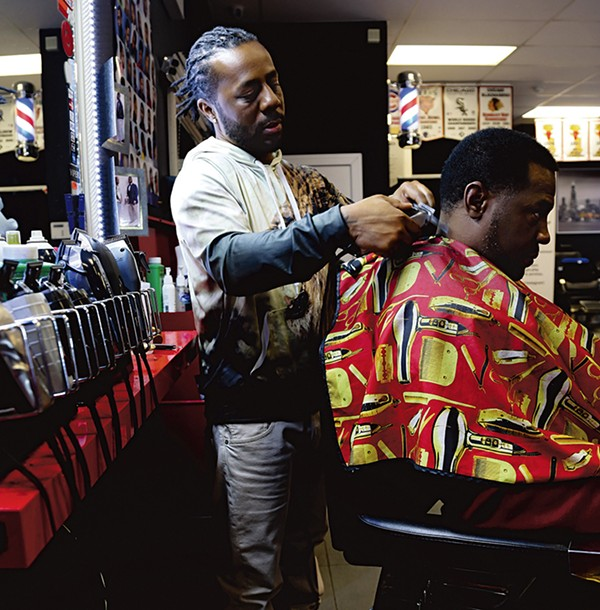 Competitive barber Nasee Yehuda at Madison Street Barbers