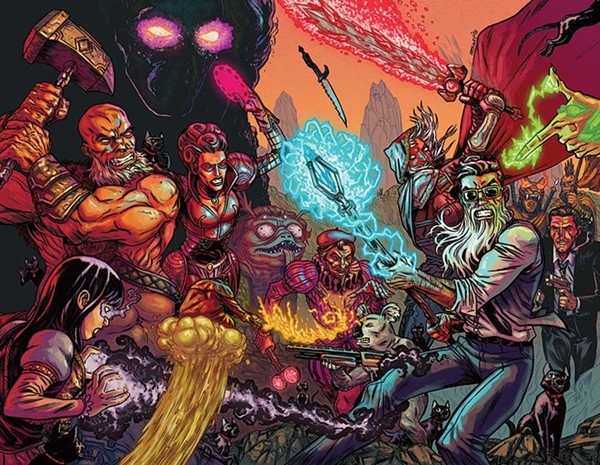 A wizard battle royale in Ryan Browne's bonkers comic Curse Words.