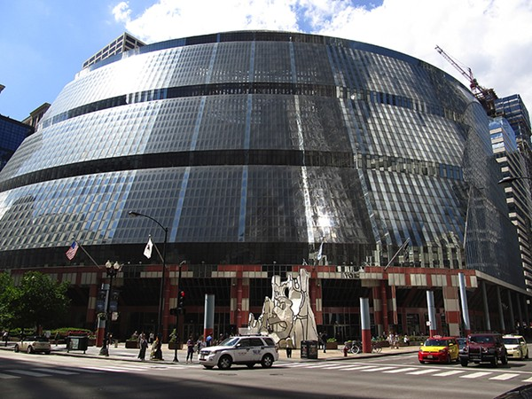 The Thompson Center from Randolph