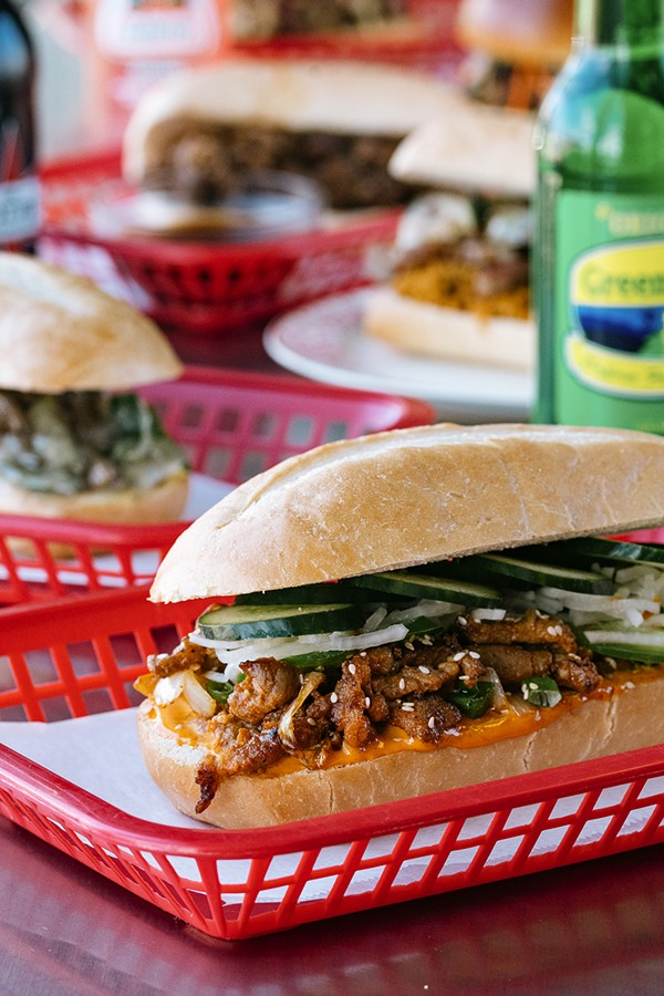Hermosa's Cambodian fried chicken sandwich