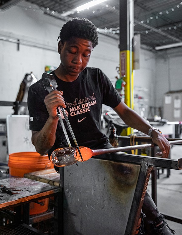 Project Fire teaches glassblowing as a way to heal trauma.