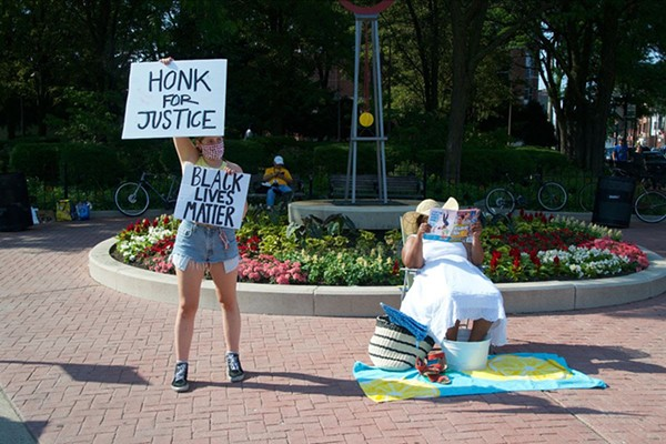 A recent Honk for Justice protest