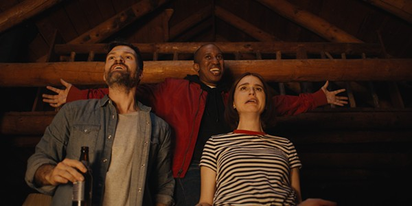Chris Redd stars with Josh Ruben and Aya Cash in the horror-comedy Scare Me