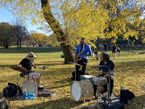 Tyler Damon, Dave Rempis, and Bill Harris in Margate Park on November 7, 2020 - PHILIP MONTORO