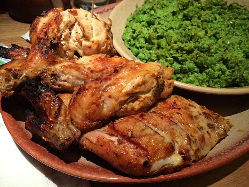 Nando's medium, macho peas - MIKE SULA