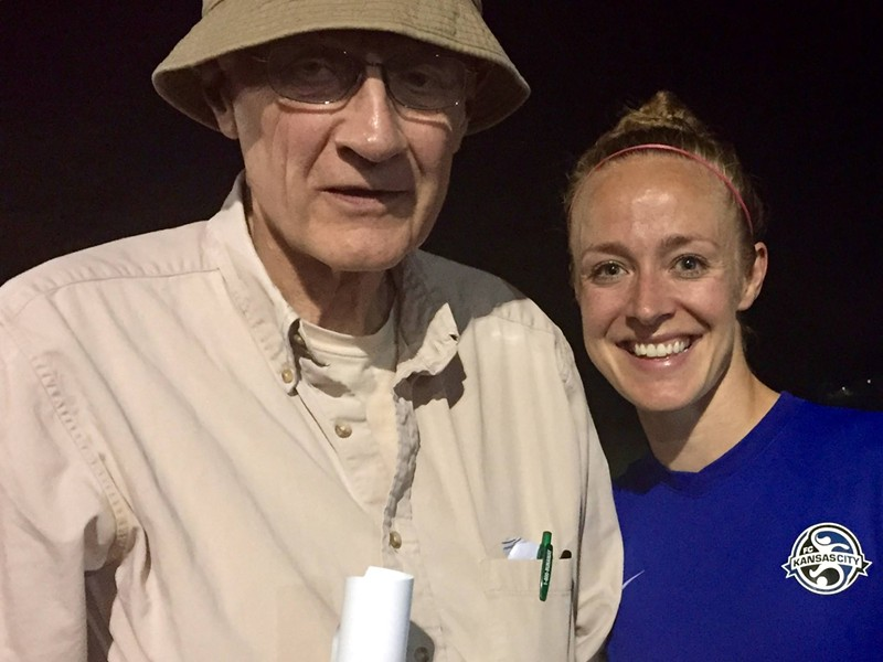 Mike Miner with his cousin Becky Sauerbrunn, soccer hero - BETSY NORE