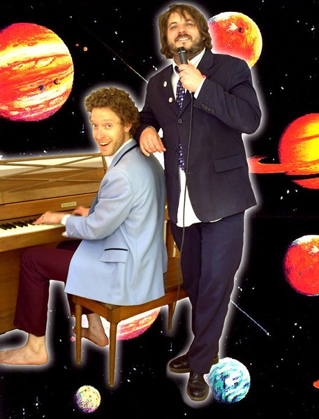 Levitan and Costello and piano in space - COURTESY SHAME THAT TUNE