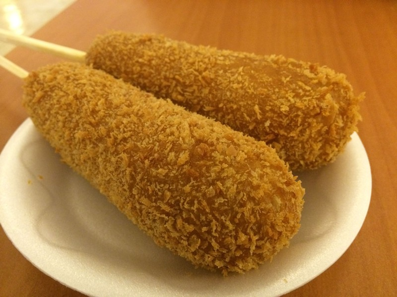 "Korean ""corn dog"" - MIKE SULA"