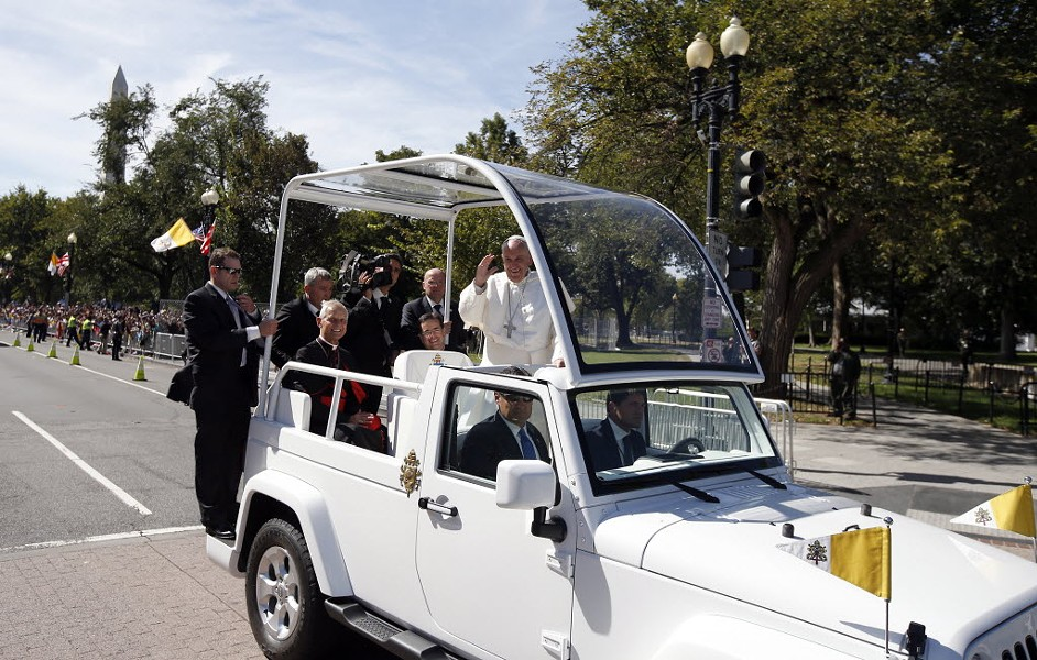 Is the Popemobile low emission? - ALEX BRANDON/AP PHOTOS