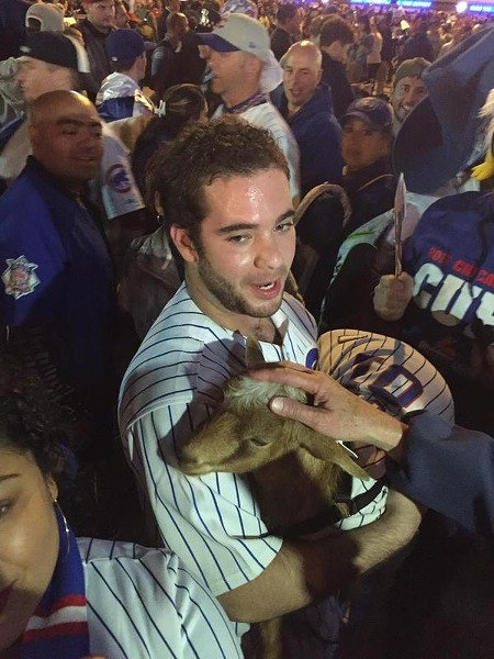 Littleton spreading good luck last Tuesday in Wrigleyville - VIA @AMWRIGHT13'S TWITTER FEED