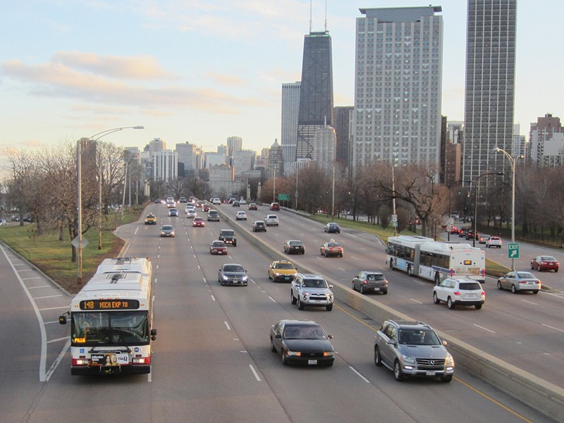 North Lake Shore Drive is due for a revamp. How public transit is prioritized is an open question. - JOHN GREENFIELD