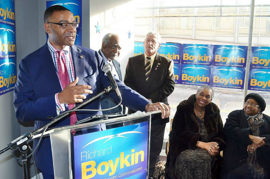 Cook County Commissioner Richard Boykin in 2014 - FACEBOOK
