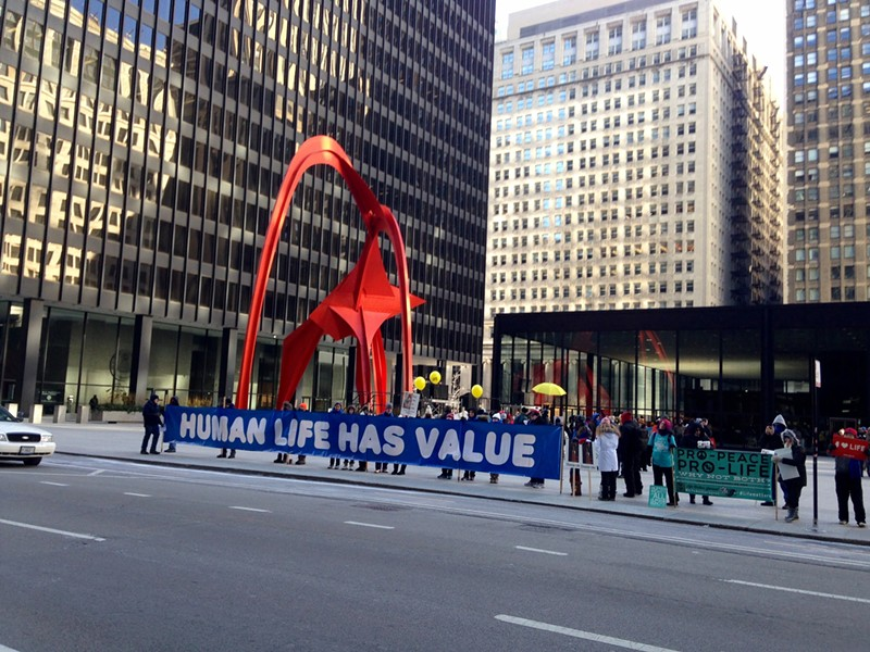 Protest: The Illinois March for Life at Federal Plaza Saturday. - AIMEE LEVITT