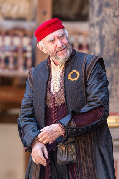 Jonathan Pryce as Shylock in Shakespeare's Globe Theatre's production of The Merchant of Venice. - MANUEL HARLAN