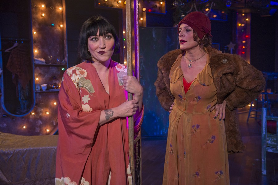 Mierka Girten and Jennifer Engstrom in A Red Orchid's production of Tennessee Williams's one-act The Mutilated - MICHAEL BROSILOW