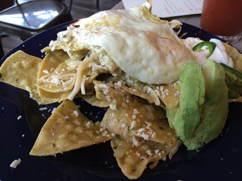 Chilaquiles at Rojo Gusano - MIKE SULA