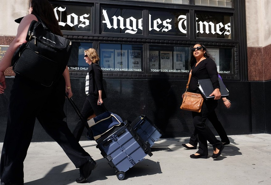 Entertainment coverage is the bedrock of the LA Times's identity. - AP PHOTO/RICHARD VOGEL, FILE