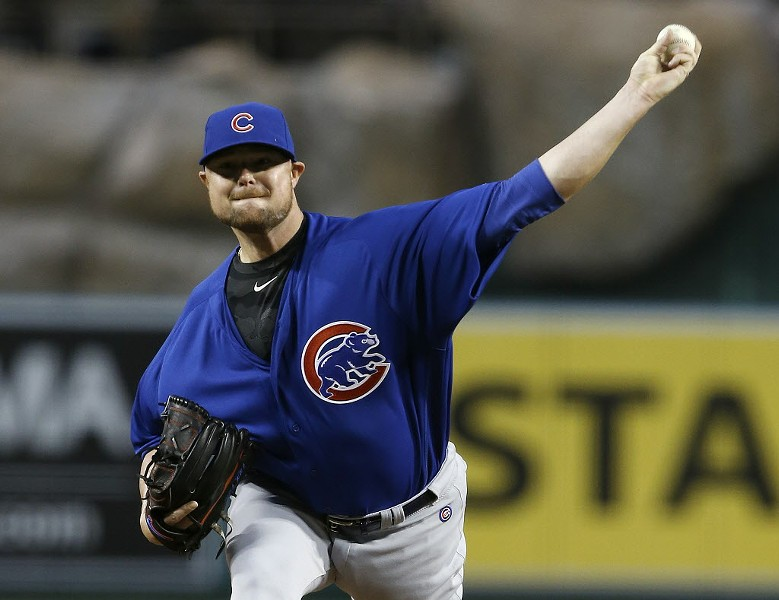 Cubs southpaw Jon Lester dominated the Angels in Anaheim. - AP PHOTO/ALEX GALLARDO