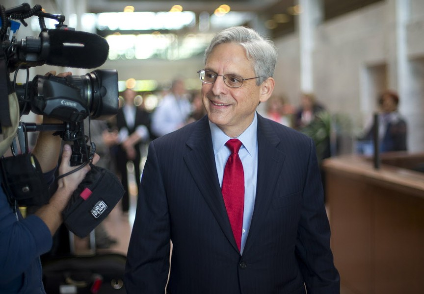 Judge Merrick Garland on Capitol Hill Wednesday. - AP PHOTO/PABLO MARTINEZ MONSIVAIS