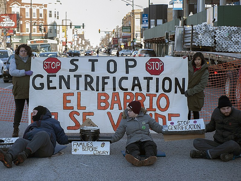 The recent protest at the Twin Towers worksite - AARON CYNIC