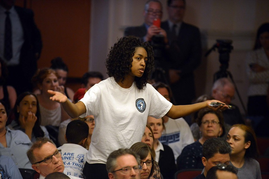 Blaine parents vented their frustration at Monday's meeting. - BRIAN JACKSON/FOR THE SUN-TIMES