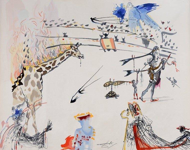 "Surrealist Bullfight from ""The Imaginative World of Dali"" at Zygman Voss - COURTESY OF CHRISTOPHE ARGILLET"