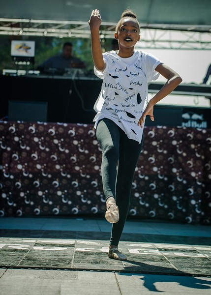 Dancer Willow Brown at the Freedom Stage - CHRISTOPHER ANDREW
