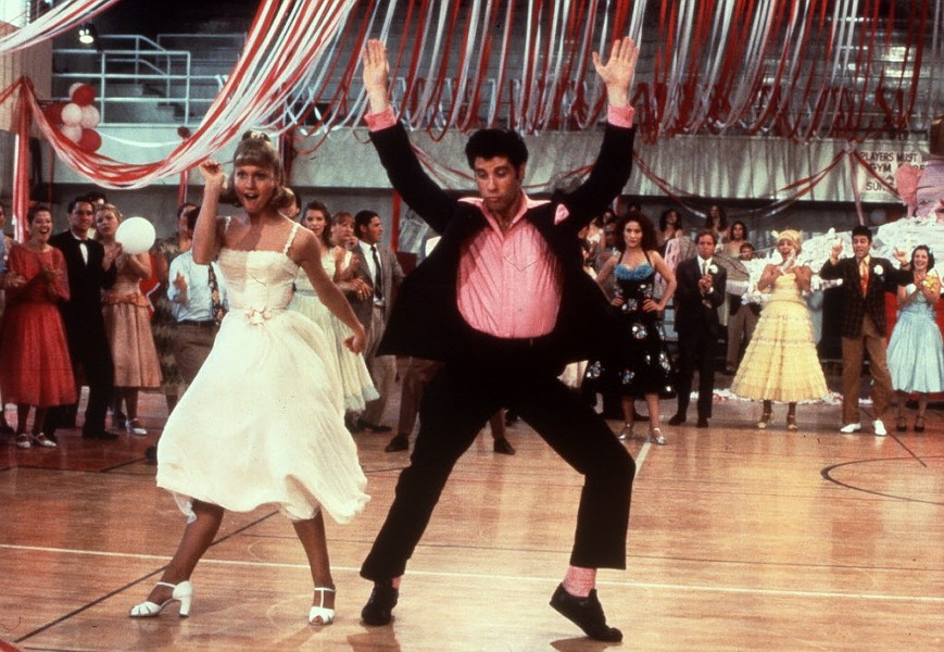 Grease screens in Welles Park on Tue 8/2.
