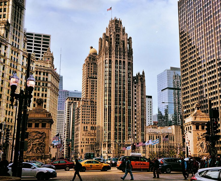 Will Tribune Tower's landmark designation protect the inscriptions in the lobby or the artifacts embedded in the facade? - MARIANO MANTEL