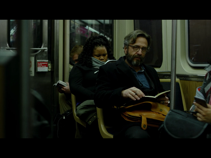 Hey, it's Marc Maron riding the train!